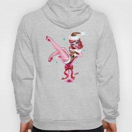 Leopard Christmas Martini Girl Hoody