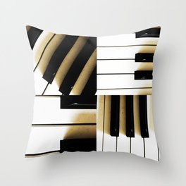 The Healing Keys Throw Pillow