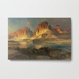 Nearing Camp, Evening on the Upper Colorado River, Wyoming by Thomas Moran Metal Print