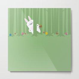 Easter Bunnyville Metal Print
