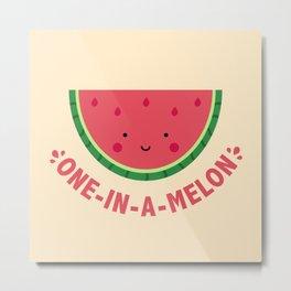 One in a Melon (Watermelon) Metal Print