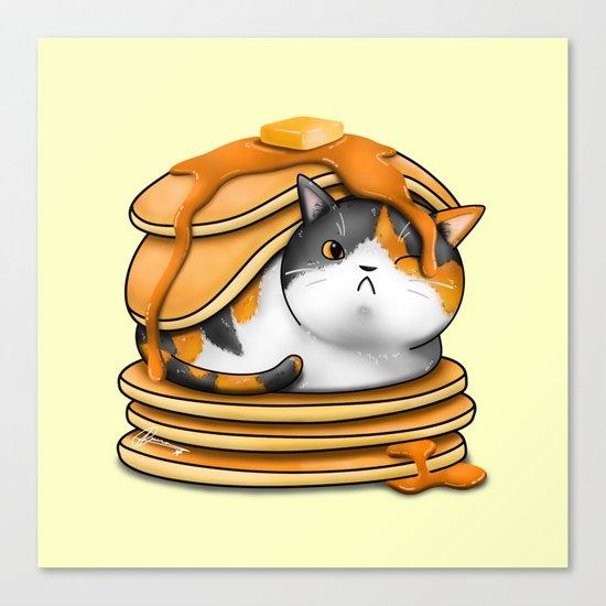 Kitty Pancakes Canvas Print