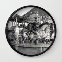 carousel Wall Clocks featuring Carousel by Ibbanez