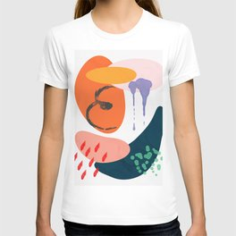 abstract dripping T-shirt