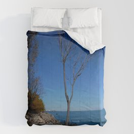 So Near, But Yet So Far #1 (Chicago Northerly Island Collection) Comforters