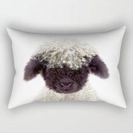 Baby Lamb, Baby Animals Art Print By Synplus Rectangular Pillow