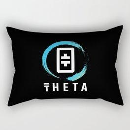 THETA  Token Crypto Logo Blockchain Cryptocurrency Rectangular Pillow