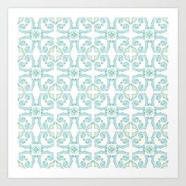 Moroccan Tile Pattern Art Print