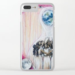 Sister Circle Clear iPhone Case