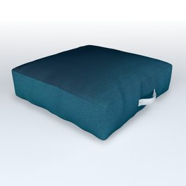 Navy blue teal hand painted watercolor paint ombre Outdoor Floor Cushion