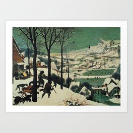 HUNTERS IN THE SNOW - BRUEGEL Art Print