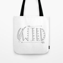 Wild Print With Feathers Tote Bag