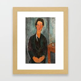 Chaim Soutine by Amedeo Modigliani, 1917 Framed Art Print