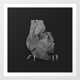 Concrete Heart Art Print