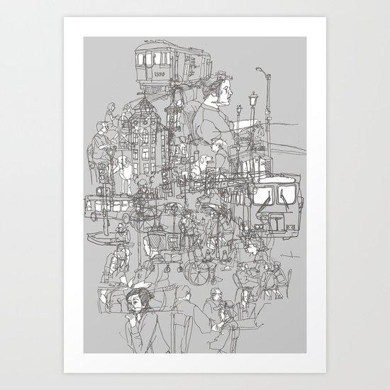 Interlocking Lives, Lines, and Transit Lanes Art Print