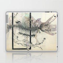 rose-Fish-bone dinosaur Laptop & iPad Skin