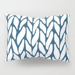 Hand Knitted Navy Pillow Sham