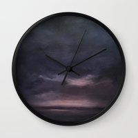night sky Wall Clocks featuring Night Sky by cargline