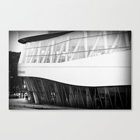 mercedes Canvas Prints featuring MERCEDES-BENZ MUSEUM by GL-ART-PHOTOGRAPHY