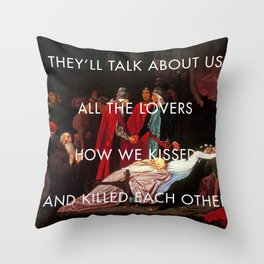 The Sobering Reconciliation Throw Pillow