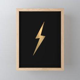 Lightening Framed Mini Art Print