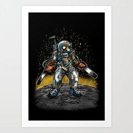 Texas Chainsaw Astronaut Art Print
