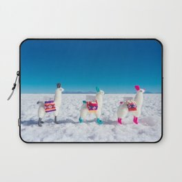 Llamas on the Bolivia Salt Flats Laptop Sleeve
