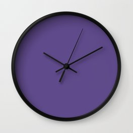 Solid Color Series - Ultra Violet Pantone Color 2018 Wall Clock
