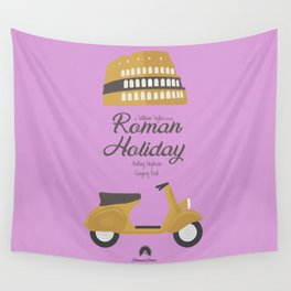 Roman Holiday, Audrey Hepburn,movie poster, Gregory Peck, William Wyler, romantic hollywood film Wall Tapestry