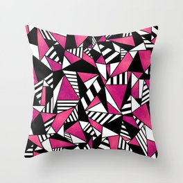 Geometric Pink Throw Pillow