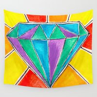 diamond Wall Tapestries featuring Diamond by Laura Maxwell