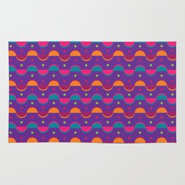 Purple abstract vector pattern Rug