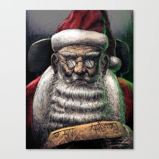Santa Checking His List... Canvas Print
