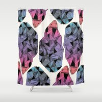 diamond Shower Curtains featuring Diamond by Hamburger Hands
