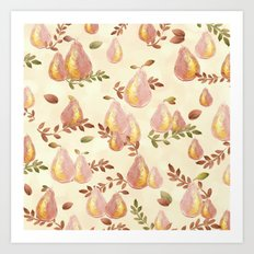 Copper Pears Art Print
