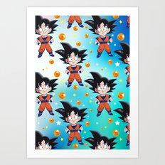 Dragon Pattern Art Print