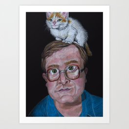 Bubs with Kitty Art Print