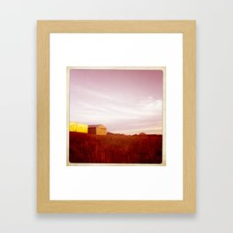 end of day Framed Art Print
