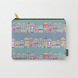 Little town in winter Carry-All Pouch
