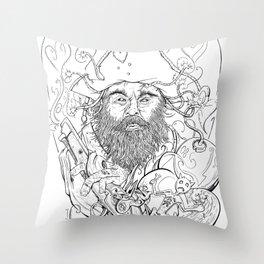 Blackbeard Throw Pillow