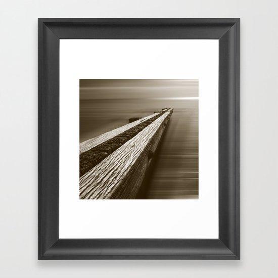 the break water 08 Framed Art Print