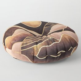 Sunkissed Mountains Floor Pillow