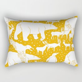 Polar gathering (orange juice) Rectangular Pillow