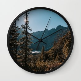 Hiking Day - Landscape and Nature Photography Wall Clock