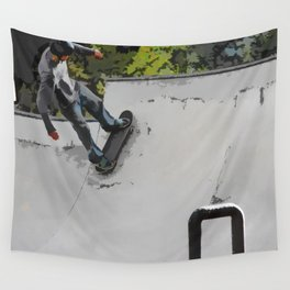 Up the Ramp  - Skateboarder Wall Tapestry