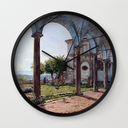 Rudolf von Alt View from Sant'Onofrio on Rome Wall Clock