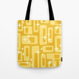 Retro Mid Century Modern Abstract Pattern 127 Yellow Tote Bag