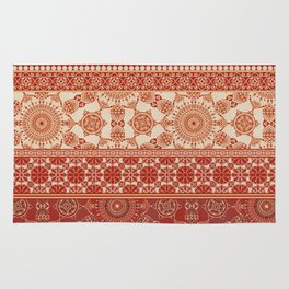 Ornate Moroccan in Red Rug