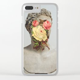 Bust With Flowers Clear iPhone Case
