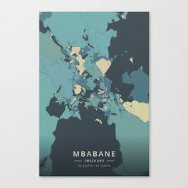 Mbabane, Swaziland - Cream Blue Canvas Print